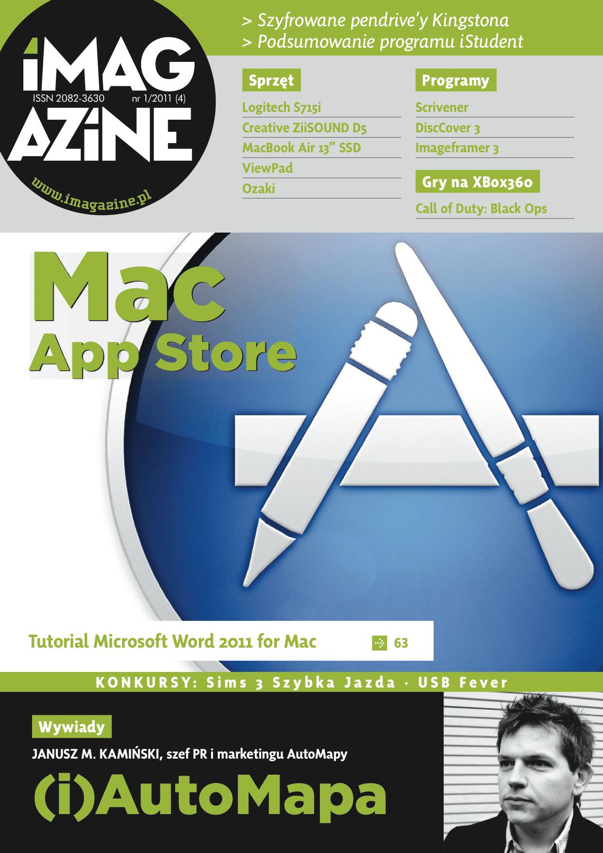 iMagazine 1/2011 – Mac App Store, Automapa