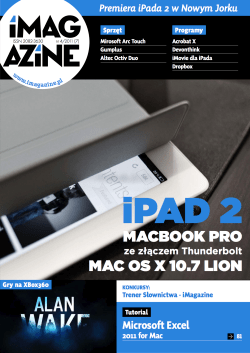 iMagazine 4/2011 – iPad 2, Macbook Pro, OSX 10.7 Lion