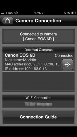 Canon 6D EOS Remote App-1 bez iPhonea