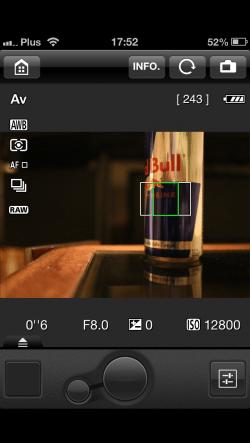 Canon 6D EOS Remote App-6 bez iPhonea