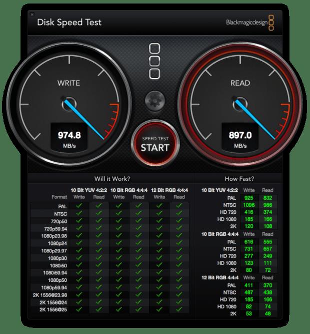 MacMark MacPro 12-core SSD test