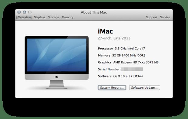Mac Model Serial Number