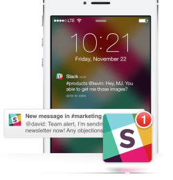 Slack hero iPhone