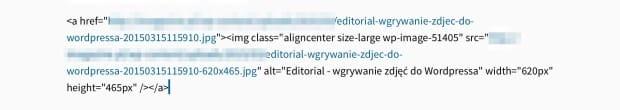 Editorial - wgrywanie zdjęć do WordPressa