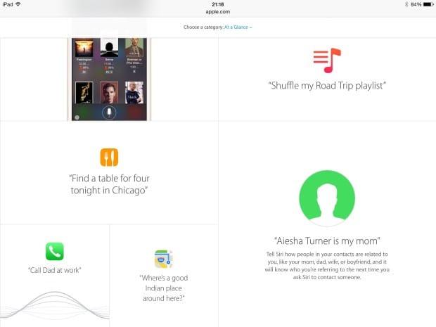 Strona poświęcona Siri