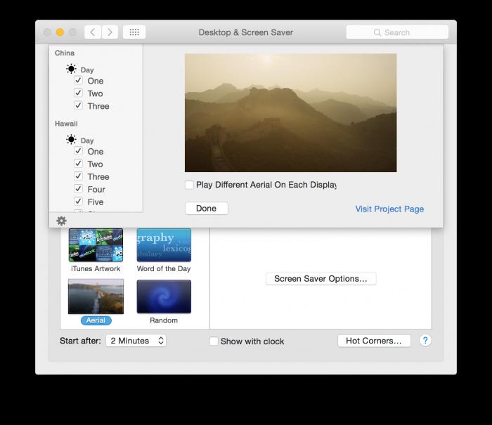 Aerial Screen saver tutorial 04