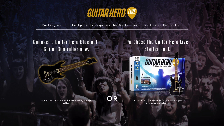 guitar hero live apple tv
