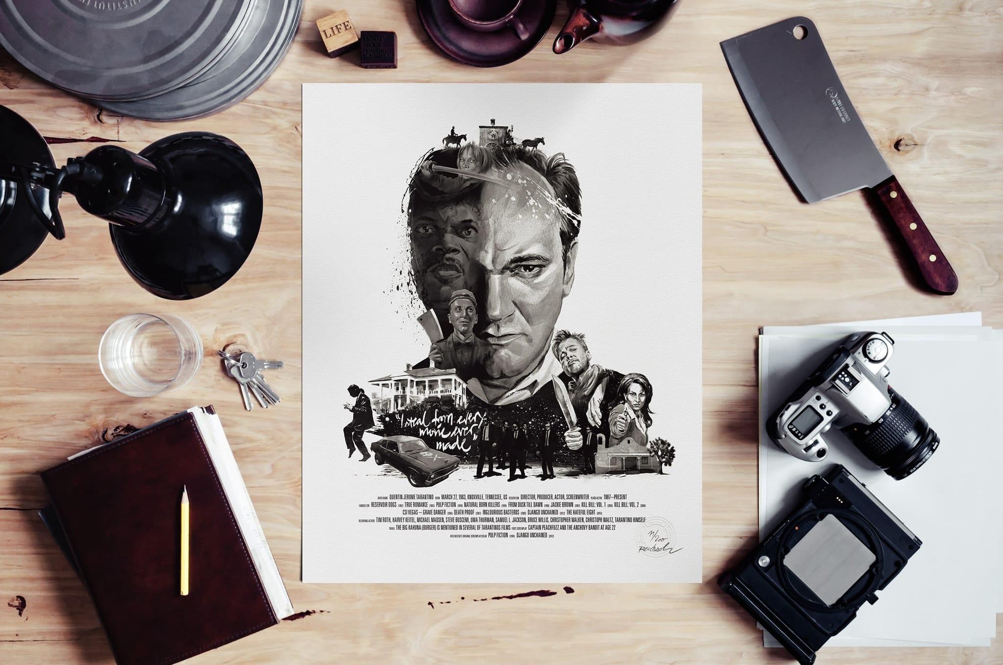 stellavie-rentzsch-movie-director-portrait-prints-quentin-tarantino-mood