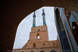 Teren meczetu wmiejscowości Jazd. Jazd, Iran, październik 2015.