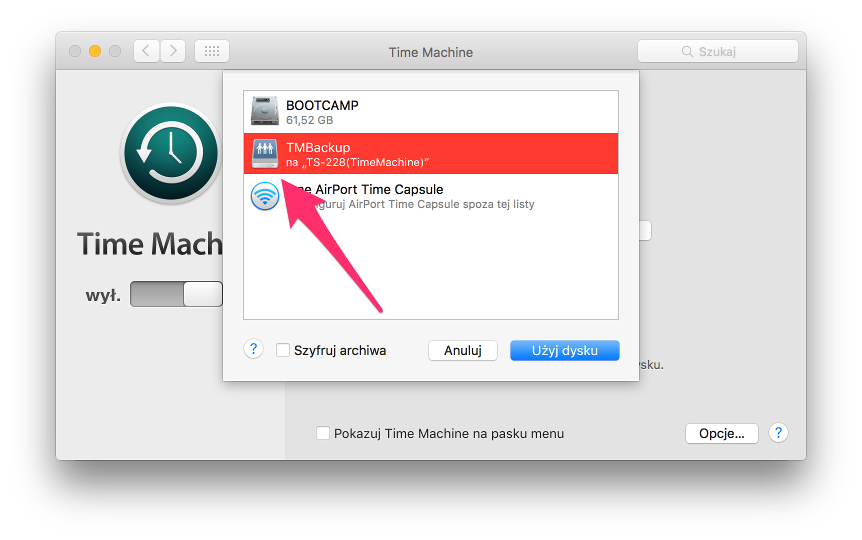qnap time machine backup
