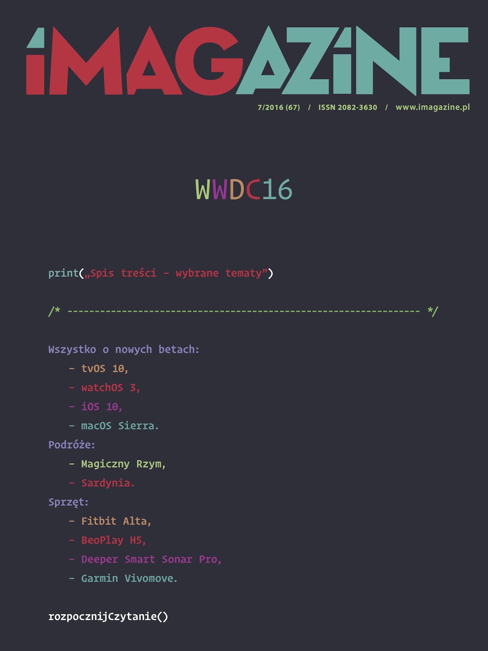 IMagazine 7/2016 - WWDC 2016