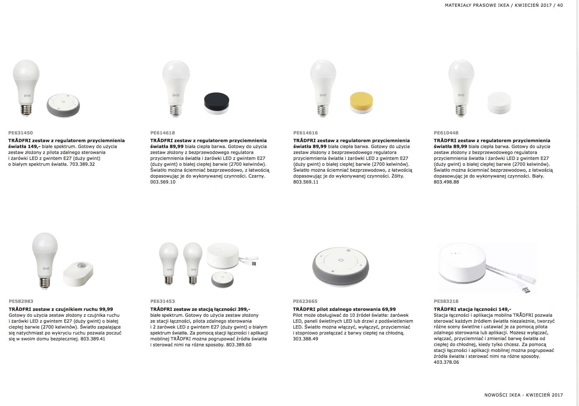 Inteligentne żarówki Ikea Od 4999 Pln Imagazine