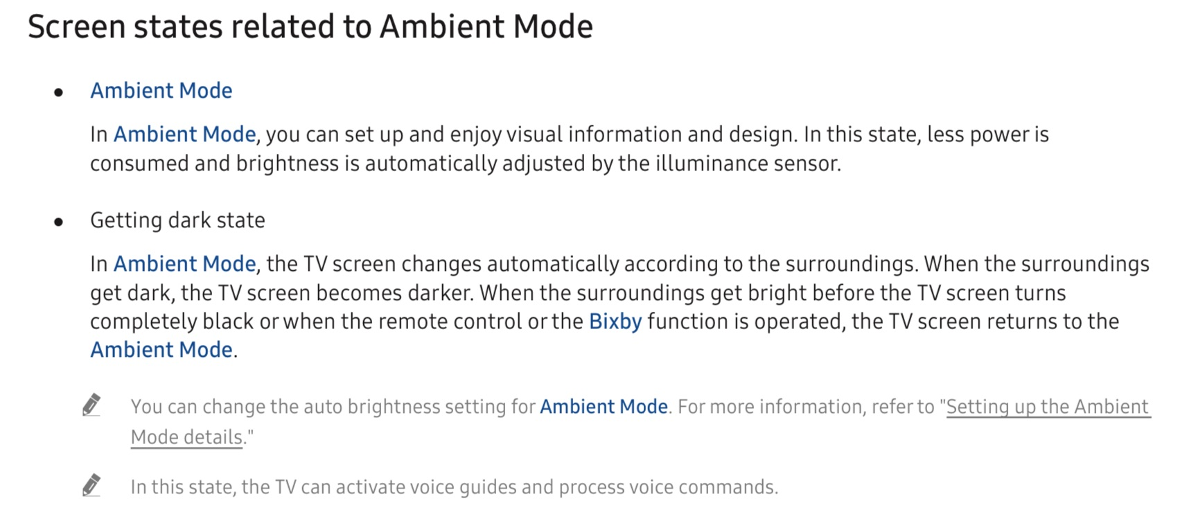 Ambient Mode QLED Samsung
