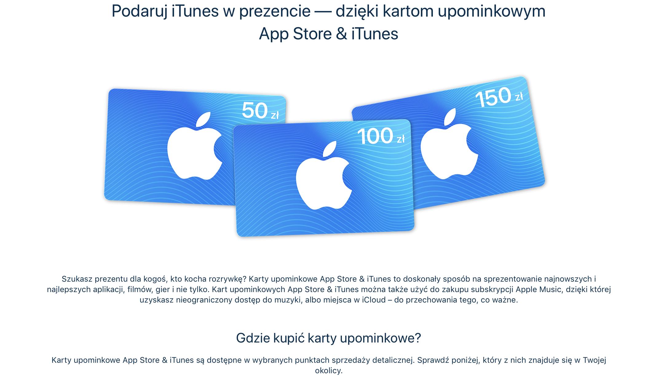 Karty Podarunkowe Od Apple Oficjalnie W Polsce Imagazine